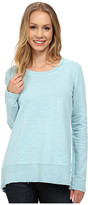Mod-o-doc Slub French Terry Scoop Neck Pullover w/ Thermal Banded Hem