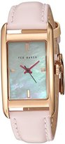 Ted Baker Women's ' Quartz Stainless Steel and Leather Dress Watch, Color:Pink (Model: 10030751)