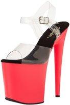 Pleaser USA Women's Flamingo-808UV Ankle-Strap Sandal