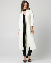 Le Château Double Weave Shawl Collar Duster Coat