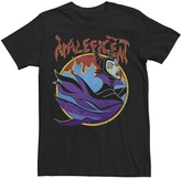Disney Men's Sleeping Beauty Maleficent Vintage Flame Portrait Tee