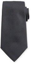 Armani Collezioni Stud-Pattern Silk Tie, Black