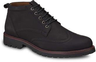 Members Only Men's Casual boots BLACK - Black Wingtip Chukka Boot - Men