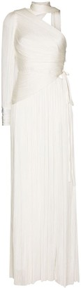 Maria Lucia Hohan Raveena one-shoulder pleated silk gown