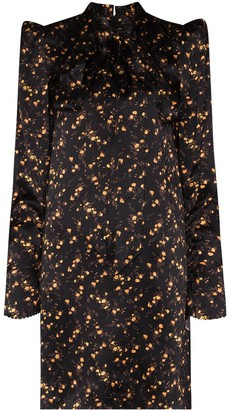 The Vampire's Wife Floral Print Silk Mini Dress
