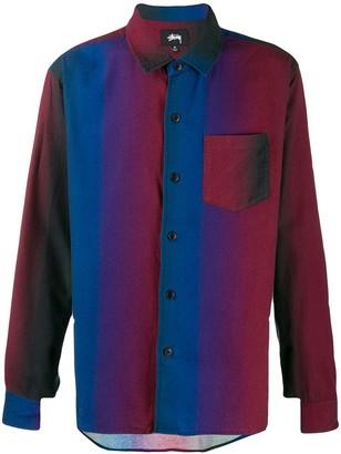 Stussy gradient-striped shirt