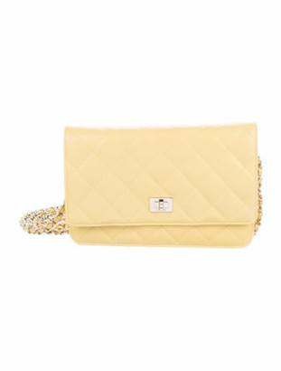 Chanel Reissue Wallet On Chain Yellow