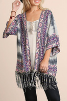 Umgee USA Fringe Kimono Top