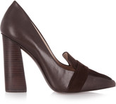 Tory Burch Smith leather and suede pumps