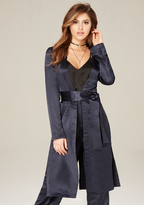 Bebe Satin Duster Coat