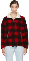 Etoile Isabel Marant Red & Black Gilas Blanket Jacket