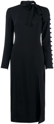 RED Valentino Sleeve Detail Midi Dress