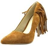 Mia Madalyn Women Pointed Toe Suede Brown Heels.
