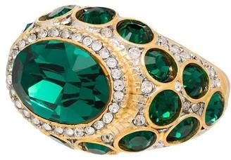 Kenneth Jay Lane Crystal Embellished Cocktail Ring