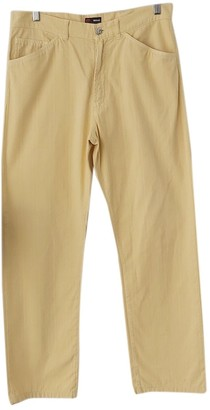 Versace Yellow Cotton Trousers