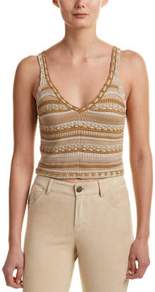 Alice + Olivia Sandrine Crochet Crop Top