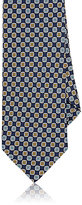 Barneys New York Men's Floral Medallion Silk Necktie-NAVY