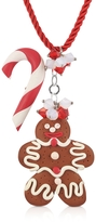 Dolci Gioie Candy Cane & Gingerbread Man Necklace