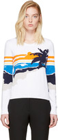 Rag & Bone White Nicki Graphic Pullover