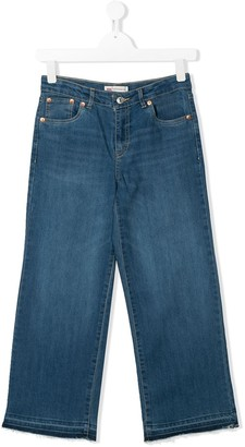 Levi's TEEN cropped wide leg jeans