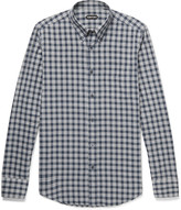 Tom Ford - Rady Slim-fit Button-down Collar Checked Cotton-voile Shirt