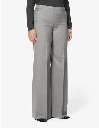 Max Mara Elio wide high-rise wool trousers