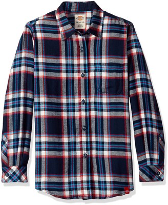 Dickies Girls' Big Long Sleeve Flannel Shirt