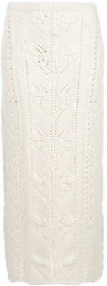 Brock Collection Open Knit Skirt