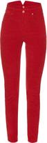 Etoile Isabel Marant Farley high-waisted corduroy trousers