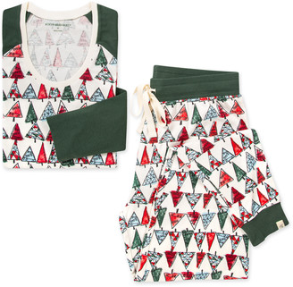 Burt's Bees O Christmas Tree Organic Womens Matching Tee & Jogger Sleepwear Set Family Pajamas