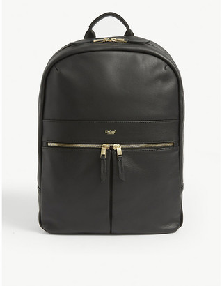 Knomo Mayfair Beauchamp leather and nylon backpack