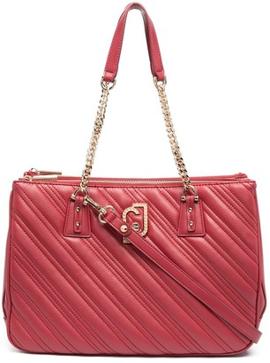 Liu Jo Quilted Logo-Plaque Tote Bag