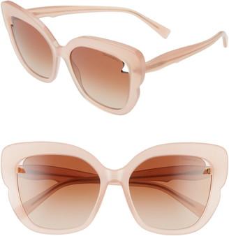 Tiffany & Co. 56mm Square Cat Eye Sunglasses