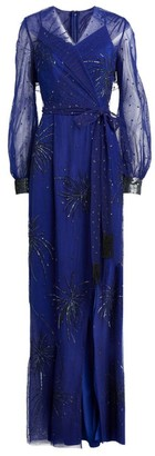 Azzi & Osta Tulle Firework-Embellished Gown