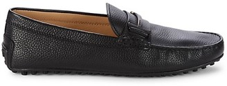 Tod's Single T City Gommino Leather Penny Loafers