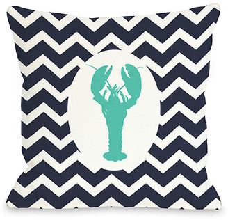 One Bella Casa Chevron Lobster Decorative Pillow
