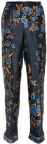 Alberta Ferretti Floral Printed Silk Twill Pants