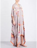 Meng Floral-print silk-chiffon kaftan