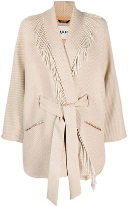 Bazar Deluxe Interwoven Frayed Cardi-Coat