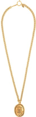 Chanel Pre Owned 1993 oval CC medallion necklace