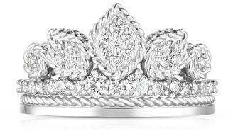 Roberto Coin x Disney Cinderella Diamond Tiara Engagement Ring, Size 6.5