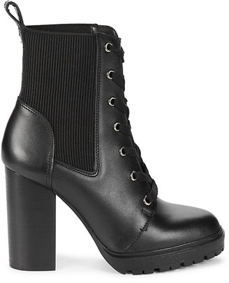 Steve Madden Wald Leather Heeled Ankle Booties