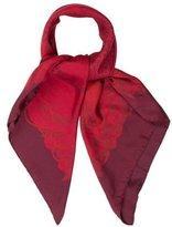 Hermes Jungle Love Dip-Dye Silk Scarf