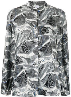 Paul Smith Graphic Printed Collarless Blouse