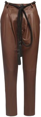 Blancha High Waist Leather Pants