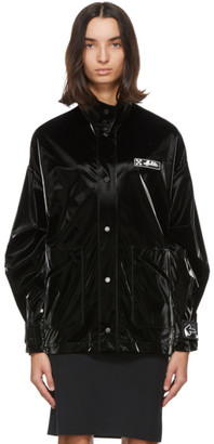 Off-White Black Velvet Track Jacket