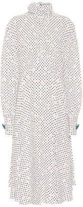 Christopher Kane Polka-dot crepe midi dress