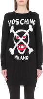 Moschino Logo-intarsia wool jumper