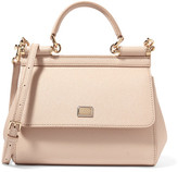 Dolce & Gabbana Sicily Small Textured-leather Tote - Blush