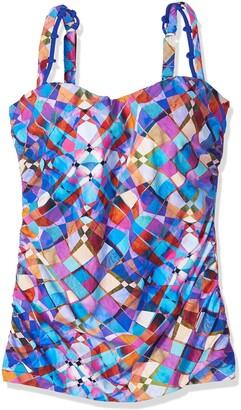 Gottex Women's Printed Sweetheart E-Cup Tankini Top Swimsuit
